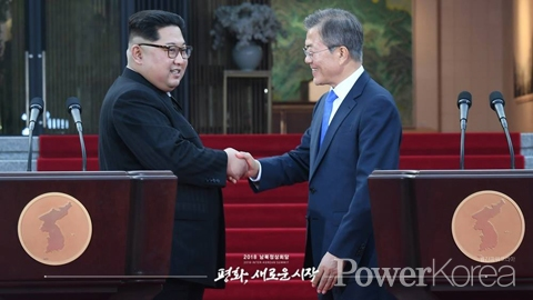 Inter-Korean Summit 2018 Moon and Kim adopt <Panmunjom Declaration of Peace, Prosperity and Unification in the Korean Peninsula>