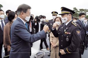 Moon attends 75th Police Day ceremony